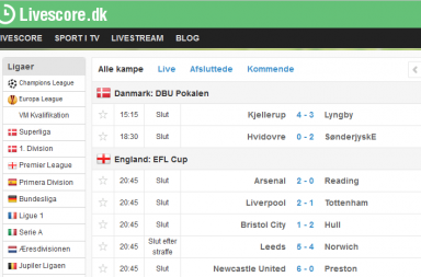 Online fodbold spil europa